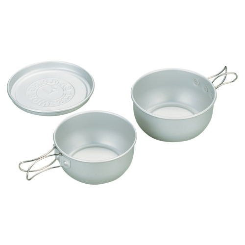 Evernew EBY157 Camping Accessories Aluminum Bowl Set 3