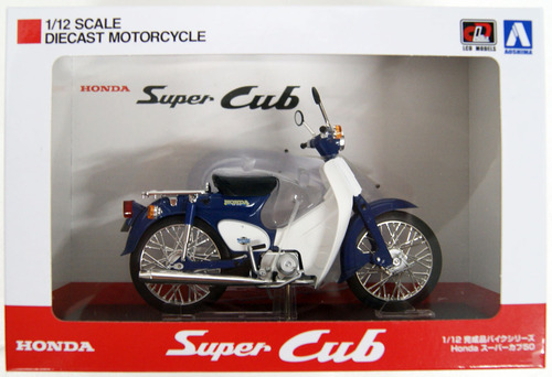 Aoshima Skynet 05665 Honda Super Cub 50 Blue 1/12 Scale Finished Model