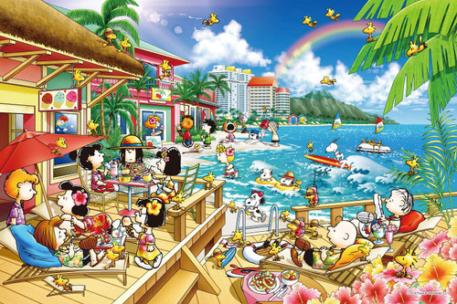 Epoch Jigsaw Puzzle 11-589s Snoopy Peanuts Beach Resort (1000 Pieces)