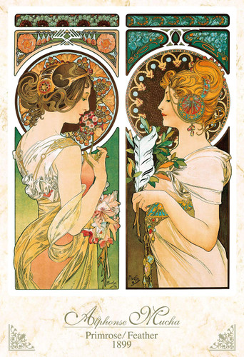 Epoch Jigsaw Puzzle 31-016 Primrose / Feathers Alphonse Mucha (1053 S-Pieces)