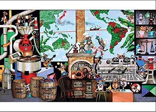 APPLEONE Jigsaw Puzzle 500-264 Seiji Fujishiro La vie cafe (500 Pieces)