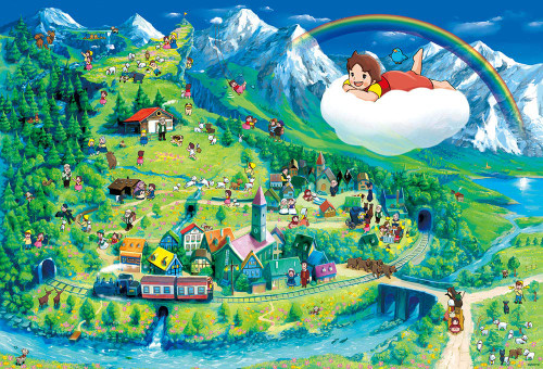 Beverly Jigsaw Puzzle 31-495 Heidi, Girl of the Alps Best Scenes (1000 Pieces)