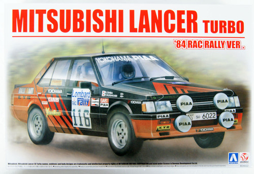 Aoshima 06082 Mitsubishi Lancer Turbo '84 RAC Rally Ver. 1/24 Scale Kit
