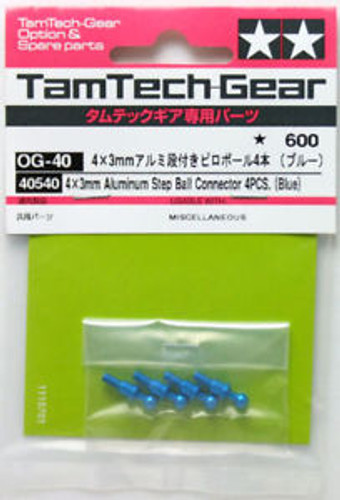 Pink, 10pcs Tamiya 40512 RC TamTech-Gear Aluminum 4mm Ball Connectors