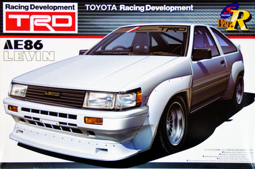 Aoshima 02704 Toyota AE86 Levin TRD Toyota Racing Development 1/24 Scale Kit