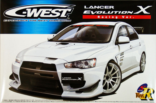 Aoshima 49006 Mitsubishi Lancer Evolution X C-West Racing Version 1/24 Scale Kit