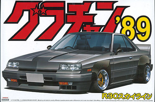 Aoshima 04104 Nissan Skyline (R30) Grachan '89 1/24 Scale Kit