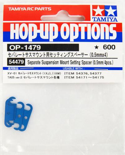 Tamiya 54479  Separate Sus Mnt Set Spacer 0.5mm (4 pcs.)