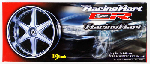 Aoshima 05569 Tire & Wheel Set Racing Hart type CR 19 inch 1/24 Scale Kit