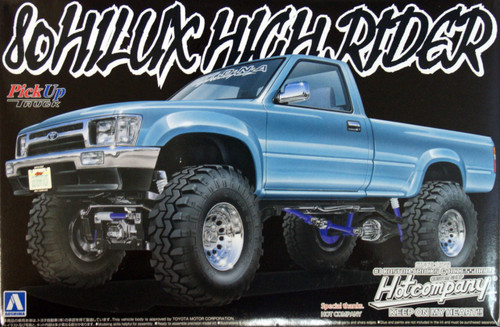 Aoshima 05620 Toyota 80 Hilux High Rider (Pick Up Truck) 1/24 Scale Kit