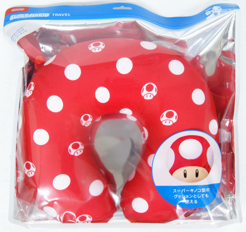 Nintendo Super Mario Travel Reversible Neck Pillow (Super Mushroom)