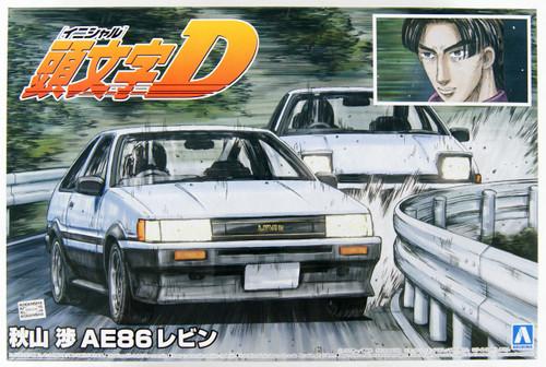 Aoshima Initial D: Wataru Akiyama AE86 Levin 1/24 Scale kit