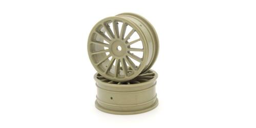 Kyosho VZH003G Wheel (15-Spoke/Gold/24mm/2Pcs)