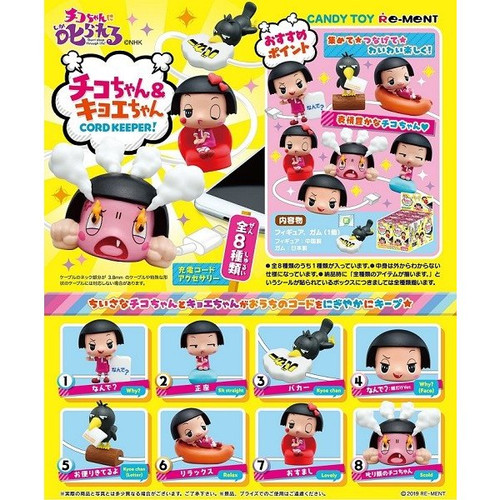 Re-ment Chico Will Scold You! Chico & Kyoe Cord Keeper 1 Box 8 Pcs Set
