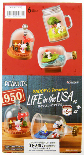 Re-ment Snoopy's Terrarium LIFE in the USA 1 Box 6 Pcs Complete Set
