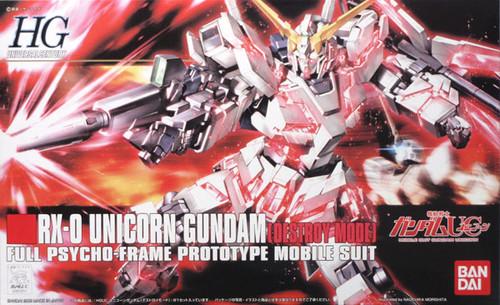 Bandai HGUC 100 Gundam RX-0 UNICORN DESTROY MODE 1/144 Scale Kit