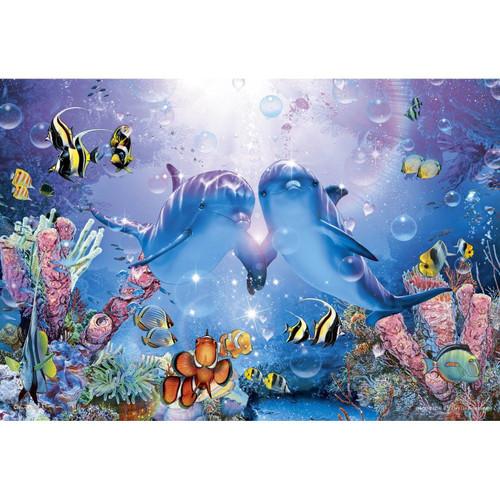 Apollo-sha Jigsaw Puzzle 47-801 Lassen Dolphins Precious Love II (1053 S-Pieces)