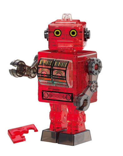 Beverly Crystal 3D Puzzle 50202 Robot Red