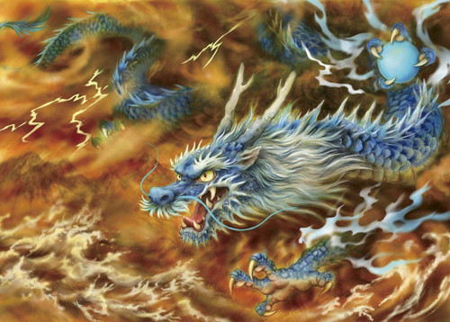 Epoch Jigsaw Puzzle 06-054 Japanese Art Dragon (500 Pieces)