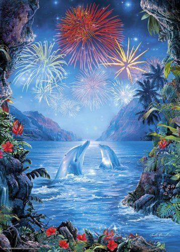 Epoch Jigsaw Puzzle 07-453 Lassen Fireworks in Paradise (500 Pieces)