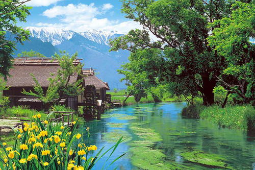 Epoch Jigsaw Puzzle 10-782 Japanese Scenery Watermill Nagano (1000 Pieces)