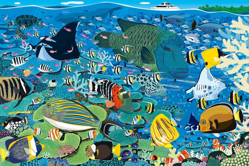 Epoch Jigsaw Puzzle 11-544 Great Barrier Reef, Australia (1000 Pieces)