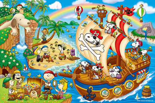 Epoch Jigsaw Puzzle 11-549s Peanuts Pirates Snoopy Adventure (1000 Pieces)