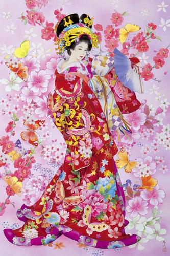 Epoch Jigsaw Puzzle 23-324 Japanese Art Kimono (2016 S-Pieces)