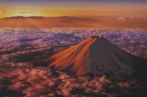 Epoch Jigsaw Puzzle 23-502 Japanese Scenery Red Mount Fuji (2016 S-Pieces)