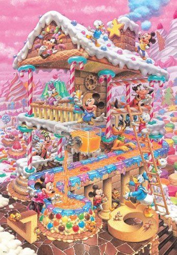 Tenyo Japan Jigsaw Puzzle D-1000-421 Disney Mickey Sweets House (1000 Pieces)