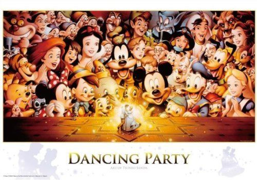Tenyo Japan Jigsaw Puzzle D-1000-434 Disney Mickey Dancing Party (1000 Pieces)
