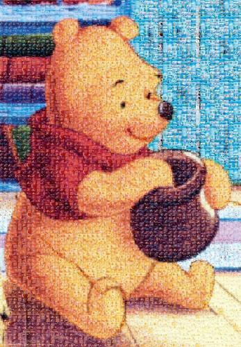 Tenyo Japan Jigsaw Puzzle D-1000-444 Disney Mosaic Art Winnie-the-Pooh (1000 pie