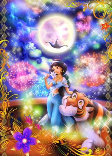 Tenyo Japan Jigsaw Puzzle D-1000-450 Disney Aladdin Jasmine (1000 Pieces)