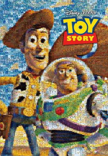 Tenyo Japan Jigsaw Puzzle D-1000-453 Disney Mosaic Art Toy Story (1000 pieces)