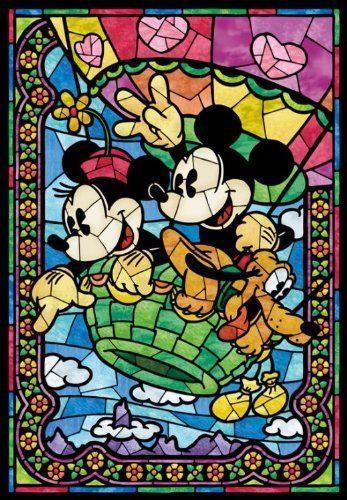 Tenyo Japan Jigsaw Puzzle D-108-732 Disney Mickey Balloon Journey (108 Pieces)