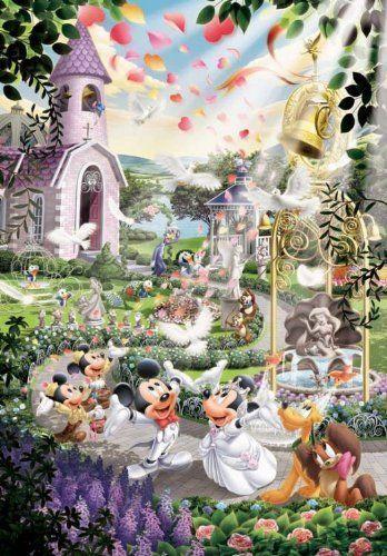 Tenyo Japan Jigsaw Puzzle D-108-733 Disney Mickey Mouse Wedding (108 Pieces)