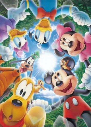 Tenyo Japan Jigsaw Puzzle D-108-734 Disney Mickey Mouse (108 Pieces)