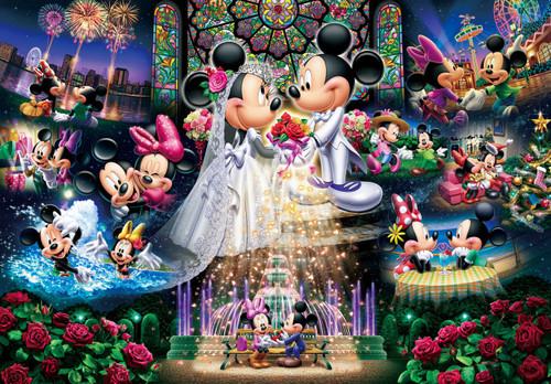 Tenyo Japan Jigsaw Puzzle D-108-742 Disney Mickey Mouse Wedding (108 Pieces)