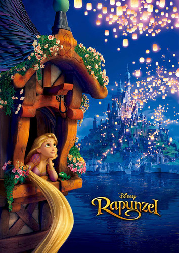 Tenyo Japan Jigsaw Puzzle D-108-773 Disney Rapunzel (108 Pieces)