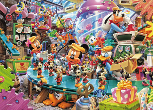 Tenyo Japan Jigsaw Puzzle D-108-774 Disney Toy Factory (108 Pieces)