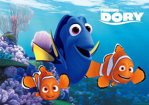 Tenyo Japan Jigsaw Puzzle D-108-794 Finding Dory Nemo & Marlin (108 Pieces)