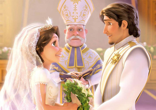 Tenyo Japan Jigsaw Puzzle D-108-796 Disney Tangled Rapunzel Wedding (108 Pieces)