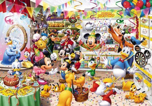 Tenyo Japan Jigsaw Puzzle D-300-216 Disney Mickey Party Goods Shop (300 Pieces)