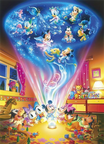 Tenyo Japan Jigsaw Puzzle D-300-251 Disney Baby Mickey Planetarium (300 Pieces)