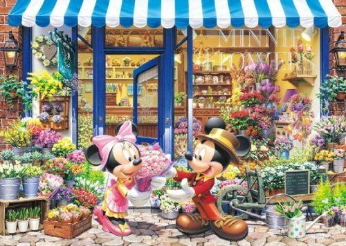 Tenyo Japan Jigsaw Puzzle D-300-258 Disney Mickey Flower Shop (300 Pieces)