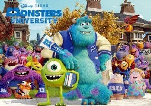 Tenyo Japan Jigsaw Puzzle D-300-259 Disney Monsters University (300 Pieces)
