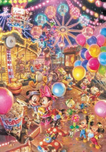Tenyo Japan Jigsaw Puzzle D-300-263 Disney Mickey Twilight Park (300 Pieces)