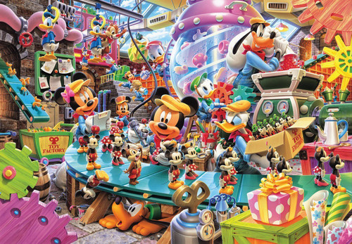Tenyo Japan Jigsaw Puzzle D-300-268 Disney Mickey Mouse Toy Factory (300 Pieces)