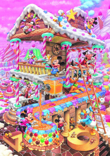 Tenyo Japan Jigsaw Puzzle D-300-275 Disney Mickey Sweets House (300 Pieces)