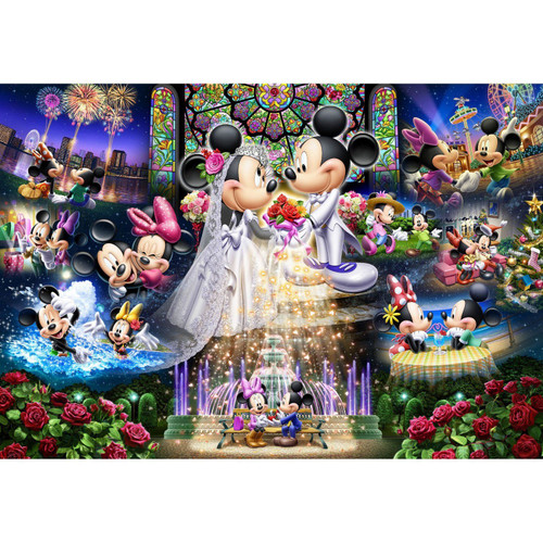 Tenyo Japan Jigsaw Puzzle D-500-430 Disney Mickey Mouse Wedding (500 Pieces)